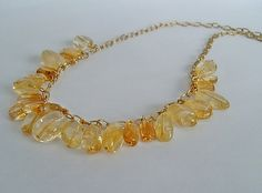 Citrine Jewelry Set Yellow Necklace and Earrings by LavishGemstone, $65.00