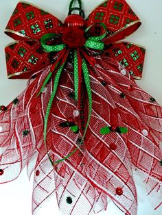 Christmas Deco mesh Door Angel ~ Memorial Angel ~ Package ~ Wall ~ Decoration #Handmade