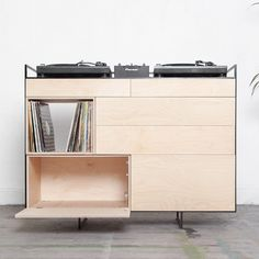 Dutch designer Rik ten Velden is targeting home DJs with the Selectors Cabinet – a wooden DJ booth, room divider and record storage unit that he will showcase at Milan design week.