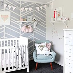 A perfect nursery for little ones to rest - we love how @beaumondemama has styled her #freedomnz Retro Chair ($599) in her daughters nursery. It's such a beautiful and calm space #freedomnzstyle #nursery #regram #pastel #freedomfurniture