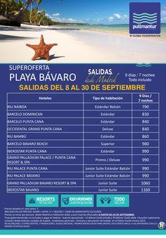 Super Oferta Playa Bávaro Salidas del 8 al 30 de Septiembre ultimo minuto - http://zocotours.com/super-oferta-playa-bavaro-salidas-del-8-al-30-de-septiembre-ultimo-minuto/