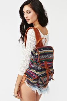 Tribal Patterned Backpack want thiss! Cute Backpacks, Teen Backpacks, School Backpacks, Leather Backpacks, Leather Bags, Backpack Pattern, Backpack For Teens, Dress Me Up, Purses And Bags