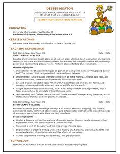 Resume For Teachers Post Teacher Resumes Best Sample Resume Sample Teacher Resume Example