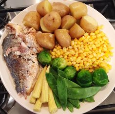 #thefoodarchivist  His; baked sea bream with new potatoes and veggies  Get a free Cuisinart CookWare Set