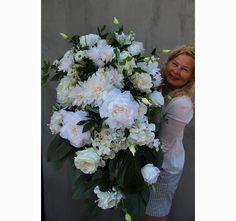 duża dekoracja / wiązanka nagrobna w donicy łódce Floral Wreath, Wreaths, Home Decor, Flower Crown, Decoration Home, Door Wreaths, Deco Mesh Wreaths, Interior Design, Garlands