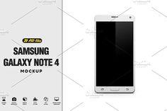 Samsung Galaxy Note 4 Mock-up by PixelMockup on @creativemarket