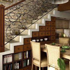 Opción para un bajo-escalera.