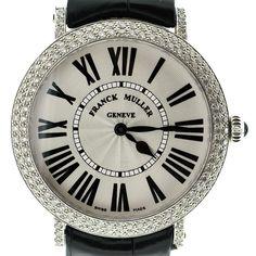 Franck Muller STL Ronde Women's Watch 8038 QZ D Black Alligator Strap Authentic #FranckMuller #Luxury #watch