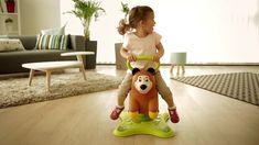 Masha y el Oso Juguete de Oso para saltar y balancearse - Smoby 2 -in- 1