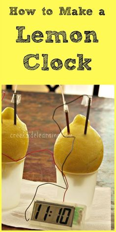Lemon clock science experiment, STEM activities for kids, science activities