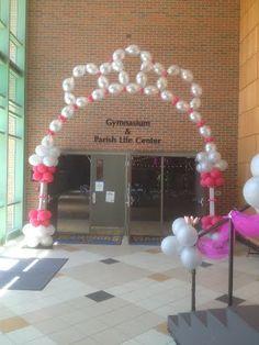 Princess Balloon Arch would work for a ballet party too. Balloon Tower, Balloon Columns, Balloon Arch, Balloon Ideas, Ballon Arrangement, Princess Balloons, Balloons And More, Shower Bebe, Baby Shower