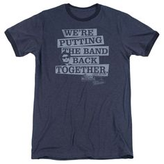 Blues Brothers - Band Back Adult Ringer T- Shirt