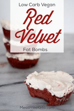 Low Carb Vegan Red Velvet Fudge | Meat Free Keto - These low carb vegan red velvet fudge fat bombs will satisfy that sweet tooth in a sugar free, keto friendly and totally delicious way!