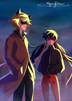 Out on patrol in the chill~ (Miraculous Ladybug, Chat Noir, 2D)