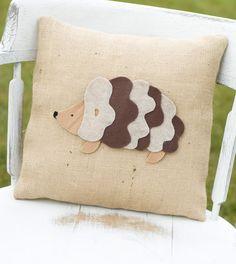 Items similar to Tiggywinkle- Decorative Felt Hedgehog Burlap Pillow on Etsy Applique Pillows, Burlap Pillows, Applique Patterns, Throw Pillows, Crafts To Do, Arts And Crafts, Felt Cushion, Hedgehog Craft, Etsy Business