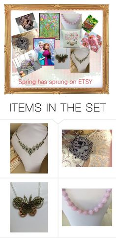 """""""Spring on Etsy"""" by margaret-hesketh ❤ liked on Polyvore featuring art"""