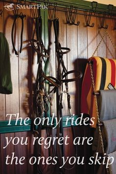 The only rides you regret are the ones you skip