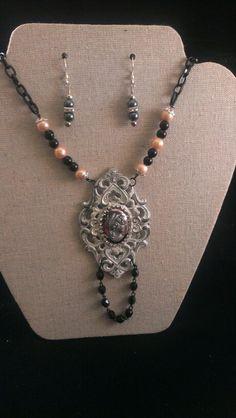 Wedding Challenge Bohemian Necklace and Earrings