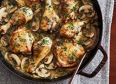 18 Christmas Chicken Recipes to Try This Holiday Season - PureWow Christmas Chicken Recipes, Chicken Dinner Party Recipes, Easy Chicken Recipes, Macro Meals, Macro Recipes, Whats Gaby Cooking, One Pot Chicken, Dinners To Make, Slow Cooker Beef