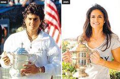 Gabriela Sabatini.. Hace 25 años ganó el Open de EE.UU Tennis Players, Cristiano Ronaldo, Masters, Nova, Fitness Motivation, Sports, Women, Ayrton Senna, Gabriela Sabatini