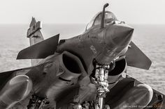"""..._ french Marine Rafale - landing to """"Charles de Gaulle"""" aircraft carrier"""
