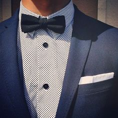 Add a bow tie to your style for that suave retro touch. #ootd #wiwt #mensstyle…