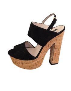 Sandalias de plataforma negras Zara 19.00€
