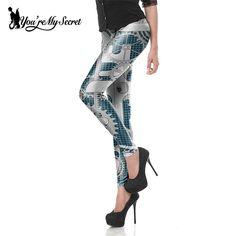 [당신이 내 비밀] 패션 레깅스 여성 스팀 펑크 스타 워즈 Mujer leggin 여성 기계 기어 3d 인쇄 코스프레 도매
