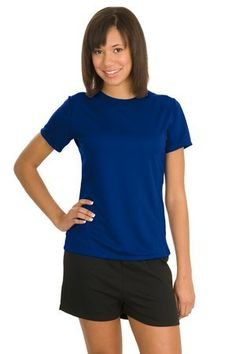 Sport-Tek Ladies Dry Zone Raglan Accent Performance T-Shirt L473 3XL True Royal Made by #Sport-Tek Color #True Royal