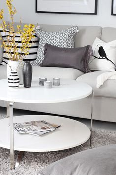 grey, black, and white. Love these tgthr with a splash of a bright color!