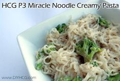 HCG Phase 3 Miracle Noodle Creamy Pasta Recipe