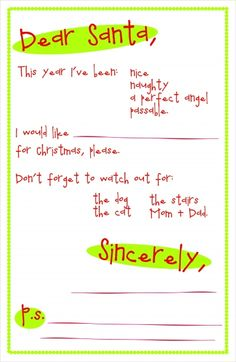 printable letter to santa for haydens letter to santa