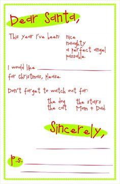 Dear Santa Letter  Elf    Printable Letters Santa And