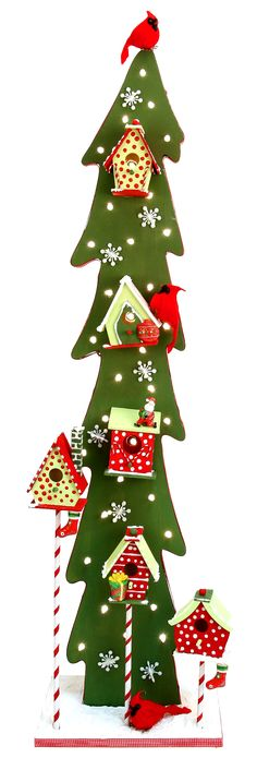 Nicole™ Crafts Birdhouse Tree #christmas #craft