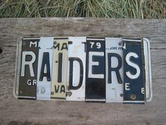 OoAK RAIDERS NFL football sports upcycled recycled by tomboyART, $145.00