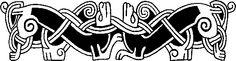 Mammen Style Cool Symbols, Celtic Symbols, Celtic Art, Viking Shield, Viking Art, Viking Designs, Celtic Designs, Viking Knotwork, Viking Ornament