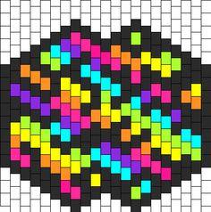 rainbow zebra mask bead pattern