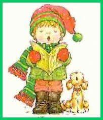 Sarah Kay figures découpage pour Noël