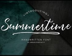 """Check out new work on my @Behance portfolio: """"Summertime Script Font + Swashes"""" http://be.net/gallery/62071731/Summertime-Script-Font-Swashes"""