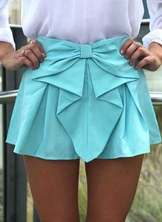 Teal Bow Front Shorts with Pleated Waist Detail,  Bottoms, bow shorts  pleated shorts, Chic