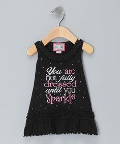Take a look at this Black 'Sparkle' Ruffle Dress - Infant, Toddler & Girls by Born 4 Couture on #zulily today!