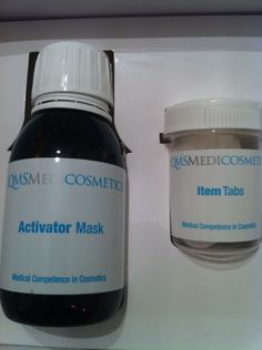 """The ladies at !QMS recommended the """"Face Activator Mask"""", so after putting the Minis to bed I went ahead and gave it a try. The kit comes with little tabs and the magic liquid. Simply add the liquid to the tab and a mask literally appears. Stick it on your face for ten minutes and then remove. You'll see the effects right away! The serum helps refresh and smooth the skin while also moisturizing."""
