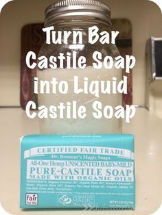 In my attempts of going chemical free a lot of the recipes call for organic castile soap. The liquid Dr. Bronner's can be a bit pricey and I plan to used quite a bit of it. I have a liquid bottle of the Peppermint scented Dr. Bronner's but I find that a bit too harsh …