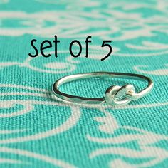 Tie the knot silver ring, perfect bridesmaid gift, love knot ring, bridesmaid jewelry