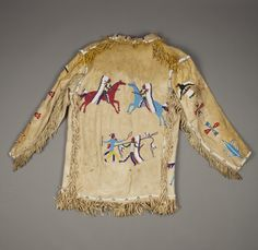 Collection information about Man's Coat; Beaded Jacket, Indian Man, Native American Beading, Sioux, Shirt Jacket, Bell Sleeve Top, Male Clothing, Sweaters, Jackets