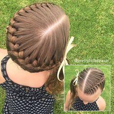 haar kinderen meisjes haar kinderen meisjes Untitled - Hairstyles For Kids - Teenage Hairstyles, Little Girl Hairstyles, Hairstyles For School, African Hairstyles, Hairstyles Videos, Casual Hairstyles, Half Braided Hairstyles, Pretty Hairstyles, French Braid Styles