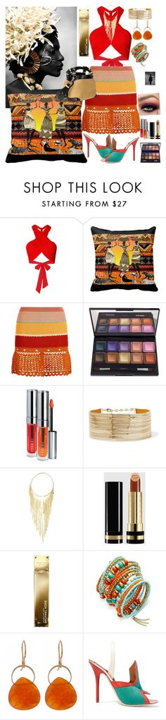 """Tribal Sunset!"" by denibrad ❤ liked on Polyvore featuring Alice + Olivia, Tommy Hilfiger, By Terry, Rosantica, Gucci, Michael Kors, Melissa Joy Manning, Malone Souliers and Caroline De Marchi"