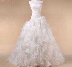 White/Ivory Organza Wedding Dress Bridal Gown Custom Size4 6 8 10 12 14 16 18 20 in Clothing, Shoes & Accessories | eBay