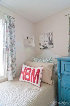 Large monogram pillow - Holly Mathis Interiors
