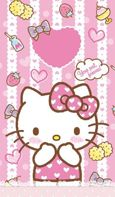 O Kitty Wallpapero Kitty Backgrounds Pretty Backgrounds Wallpaper Backgrounds Pink Wallpaper